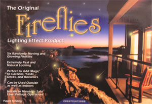 Twilight firefly insect lighting effect 6 fireflies twilight firefly insect lighting effects use a low amount of electric power however they will outlast the real firefly with over 25000 hours of workwithnaturefo